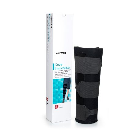 Knee Immobilizer McKesson One Size Fits Most Elastic Contact Straps Up to 29 Inch Thigh Circumference 16 Inch Length Left or Right Knee Product Image