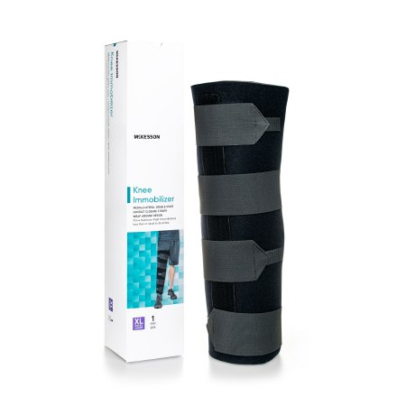 Knee Immobilizer McKesson X-Large Elastic Contact Straps Up to 36 Inch Thigh Circumference 20 Inch Length Left or Right Knee Product Image