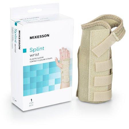 Image of Wrist Brace McKesson Low Profile / Contoured / Wraparound Aluminum / Cotton / Elastic Left Hand Beige X-Large