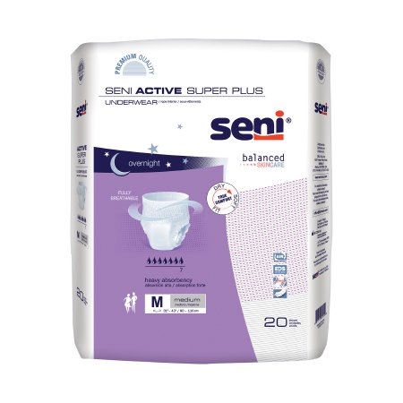 Unisex Adult Absorbent Underwear Seni® Active Super Plus Pull On with Tear Away Seams Medium Disposable Heavy Absorbency Product Image