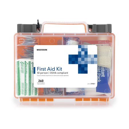 First Aid Kit McKesson 50 Person Plastic Case Product Image