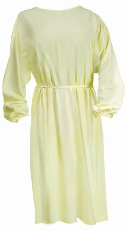 Protective Procedure Gown One Size Fits Most Yellow NonSterile Disposable Product Image