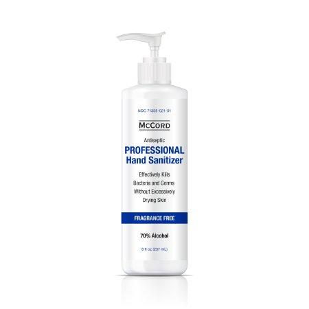 Hand Sanitizer McCord 8 oz. Ethyl Alcohol Gel Pump Bottle Product Image