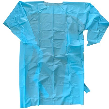 Over-the-Head Protective Procedure Gown One Size Fits Most Blue NonSterile AAMI Level 2 Disposable Product Image