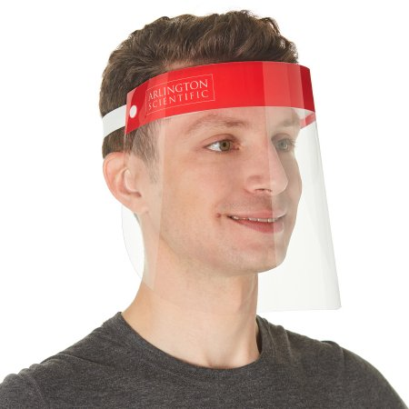 Arlington Scientific Full Face Anti Fog Face Shield One Size Fits Most Disposable Pack of 5
