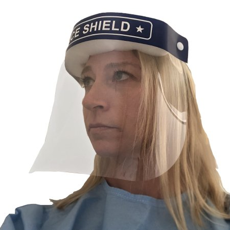 Face Shield One Size Fits Most Full Length Anti-fog Disposable NonSterile Product Image