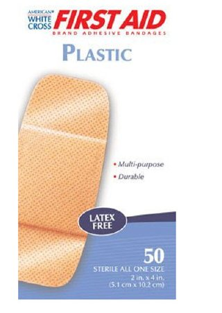American® White Cross Plastic Strips