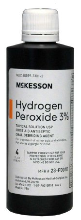 McKesson Antiseptic Hydrogen Peroxide Topical Solution, 4 oz Bottle