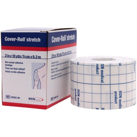 Cover-Roll® Stretch Nonwoven Polyester Dressing Retention Tape, 2 Inch x 10 Yard, White