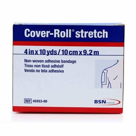 Cover-Roll® Stretch Nonwoven Polyester Dressing Retention Tape, 4 Inch x 10 Yard, White