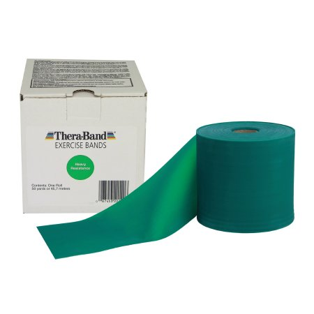 Exercise Resistance Band Thera-Band® Green 6 Inch X 50 Yard Level 3 Resistance Product Image