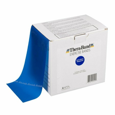 Exercise Resistance Band Thera-Band® Blue 6 Inch X 50 Yard X-Heavy Resistance Product Image