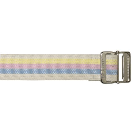 SkiL-Care™ Heavy-Duty Gait Belt with Metal Buckle, Pastel Stripes, 60 Inch