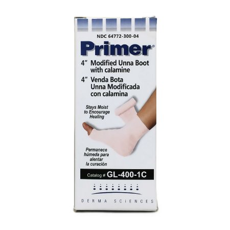 Primer® Unna Boot with Calamine / Zinc Oxide,  4 Inch X 10 Yard