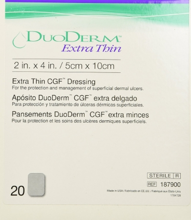 ConvaTec®  DuoDERM® Extra Thin Hydrocolloid Dressing, 2 x 4 inch