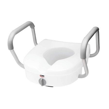 Carex® E-Z Lock™ Raised Toilet Seat with Armrests