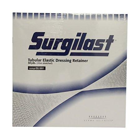 Tubular Elastic Dressing Retainer Surgilast® Tubular Elastic 25-1/2 Inch X 50 Yard Size 6 White NonSterile Large Head, Shoulder, Thigh Product Image