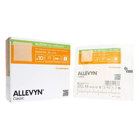 Foam Dressing Allevyn 2 X 2 Inch Square Non-Adhesive without Border Sterile Product Image