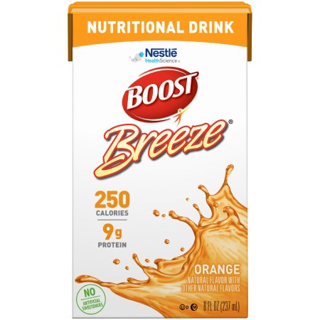 Oral Supplement Boost Breeze® Orange Flavor Ready to Use 8 oz. Carton Product Image
