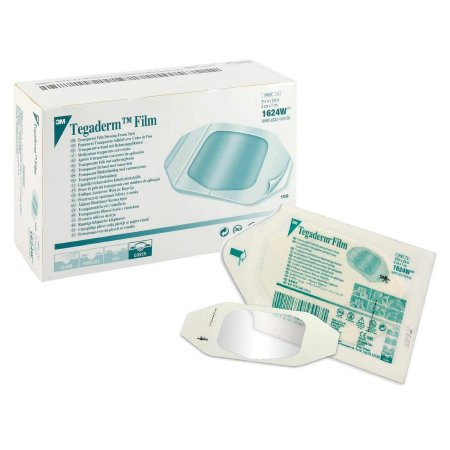 Transparent Film Dressing 3M™ Tegaderm™ Rectangle 2-3/8 X 2-3/4 Inch Frame Style Delivery With Label Sterile Product Image
