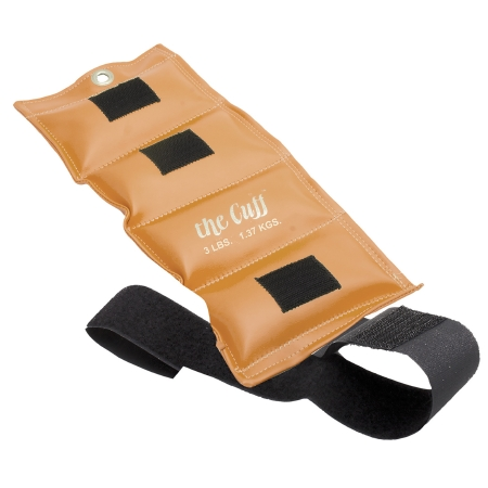 Cuff® Original Ankle & Wrist Weight, Gold, 3 lbs.