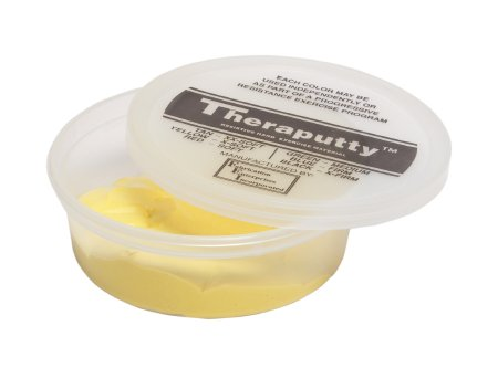 CanDo® TheraPutty™ Exercise Material, Yellow, X-Soft, 4 oz.