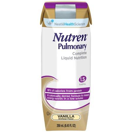 Oral Supplement / Tube Feeding Formula Nutren® Pulmonary Vanilla Flavor Ready to Use 250 mL Carton Product Image