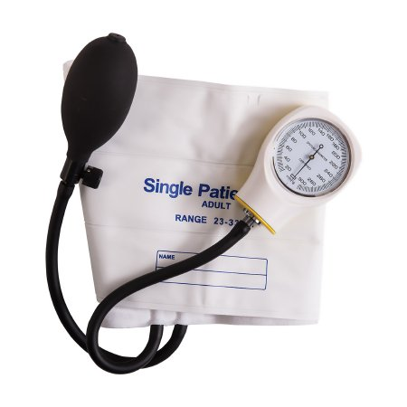 Aneroid Sphygmomanometer with Cuff Mabis® 2-Tube Pocket Size Hand Held Adult Large Cuff Product Image