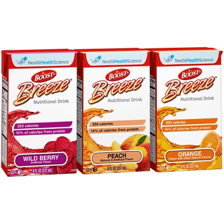 Oral Supplement Boost Breeze® Variety Flavor Ready to Use 8 oz. Carton Product Image