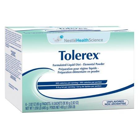 Elemental Oral Supplement / Tube Feeding Formula Tolerex® Unflavored 2.82 oz. Individual Packet Powder Product Image