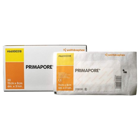 Adhesive Dressing Primapore 3-1/8 X 6 Inch Polyester Rectangle White Sterile Product Image