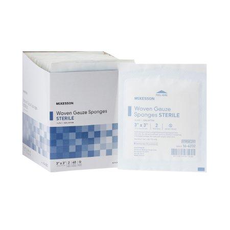 Gauze Sponge McKesson Cotton 12-Ply 3 X 3 Inch Square Sterile Product Image