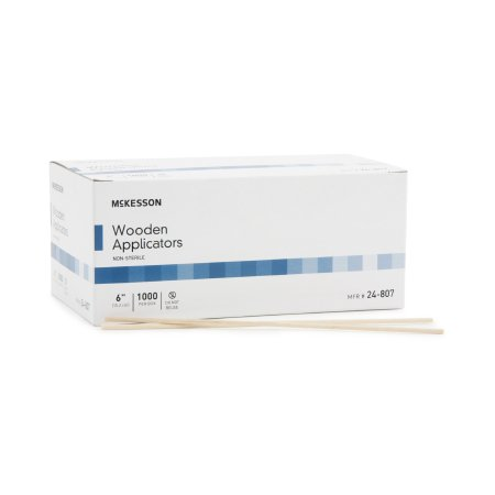 Applicator Stick McKesson Without Tip Wood Shaft 6 Inch NonSterile 1000 per Pack Product Image