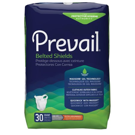 Unisex Adult Incontinence Belted Undergarment Prevail® Belted Shields Belted One Size Fits Most Disposable Light Absorbency Product Image