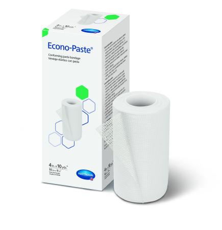 Impregnated Conforming Dressing Econo-Paste® 4 Inch X 10 Yard Cotton Zinc Oxide Paste NonSterile Product Image