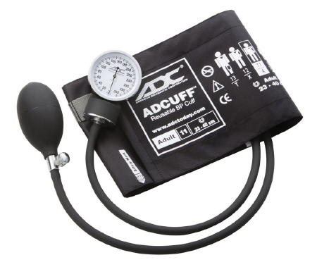 Aneroid Sphygmomanometer with Cuff Prosphyg™ 2-Tube Pocket Size Hand Held Adult Size 11 Cuff Product Image