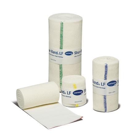 Elastic Bandage Shur-Band® LF 4 Inch X 5 Yard Standard Compression Single Hook and Loop Closure Natural NonSterile Product Image