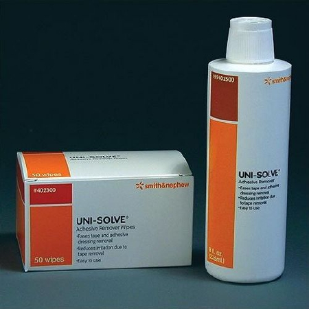 Smith&Nephew 59402500 Adhesive Remover Unisolve Liquid 8 oz . One Ea(12Ea/Cs) Item No.:MM 40204900 Product Category > Wound Care > General Wound Care > Adhesive Removers > Liquid <Br>#40204900 Smith &