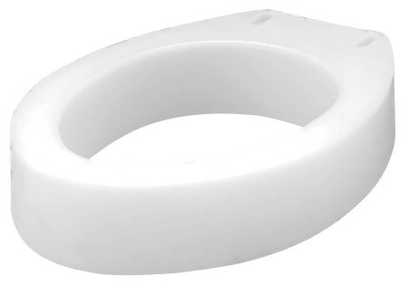 Elongated Raised Toilet Seat Carex® 3-1/2 Inch Height White 300 lbs. Weight Capacity Product Image