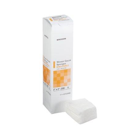 Gauze Sponge McKesson Cotton 12-Ply 2 X 2 Inch Square NonSterile Product Image