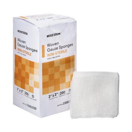 Gauze Sponge McKesson Cotton 8-Ply 3 X 3 Inch Square NonSterile Product Image