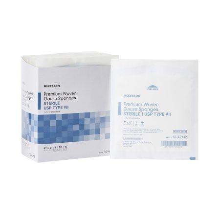 USP Type VII Gauze Sponge McKesson Cotton 12-Ply 4 X 4 Inch Square Sterile Product Image
