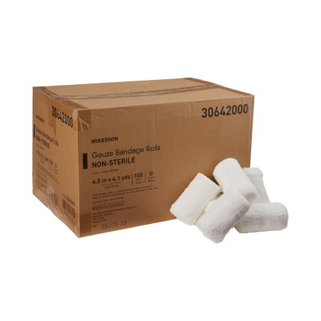 Fluff Bandage Roll McKesson Cotton 6-Ply 4-1/2 Inch X 4-1/10 Yard Roll Shape NonSterile Product Image