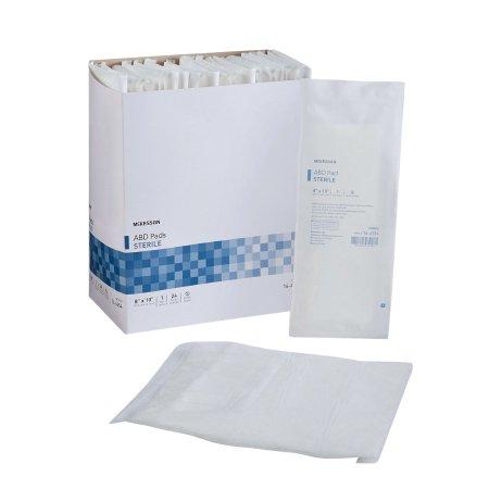 Abdominal Pad McKesson Nonwoven Cellulose 8 X 10 Inch Rectangle Sterile Product Image