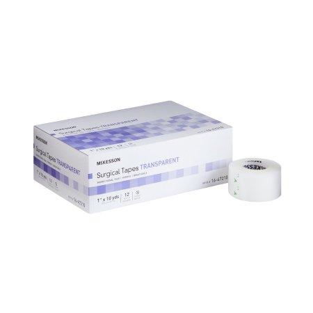 Medical Tape McKesson Plastic 1 Inch X 10 Yard Transparent NonSterile Product Image
