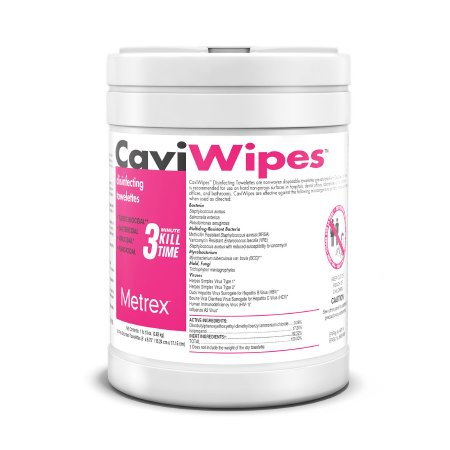 CaviWipes™ Surface Disinfectant Premoistened Alcohol Based Wipe 160 Count Canister Disposable Alcohol Scent NonSterile Product Image