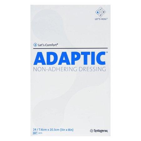 Impregnated Non-Adherent Dressing Adaptic™ 3 X 8 Inch Cellulose Acetate Mesh Petrolatum Emulsion Sterile Product Image