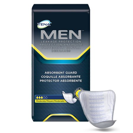 Adult Bladder Control Pad TENA Mens Moderate Absorbency - (120/Case)