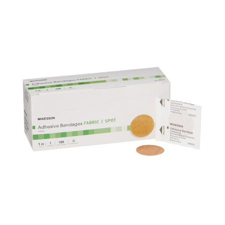 Adhesive Spot Bandage McKesson 1 Inch Fabric Round Tan Sterile Product Image