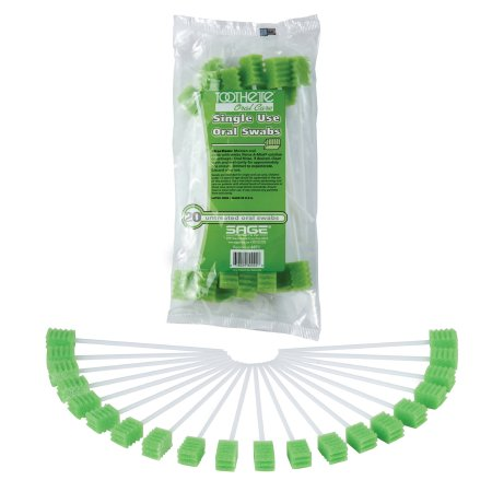 Oral Swabstick Toothette® Plus Foam Tip Untreated Product Image